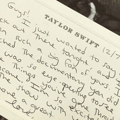 Personalized stationery for Taylor Swift