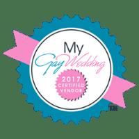My GayWedding 2017 Certified Vendor logo