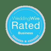 WeddingWire Rated Business logo
